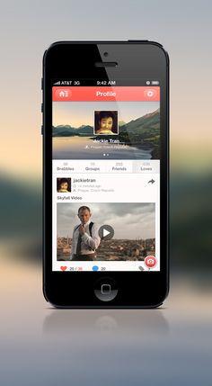 Profile Page UI Fullscreen