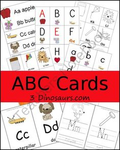Collection of ABC Cards from 3Dinosaurs on TeachersNotebook.com -  (71 pages)  - A collection of 11 different types of ABC Cards
