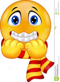 Illustration about Illustration of Shivering Smiley isolated on white. Illustration of emotion, scare, cold - 46949015 Emoticon Faces, Funny Emoji Faces, Funny Emoticons, Images Emoji, Emoji Pictures, Smiley Emoji, Foto Software, Bisous Gif, Happy Monday Quotes