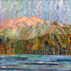Beautiful Art Quilts - another beautiful abstract landscape quilt - I definitely have the batiks to try to attempt to make one like this
