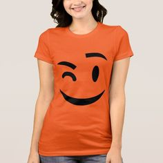 Funny winking at you emoji Women's Tee  by emoji_pillows on Zazzle @zazzle #zazzle #smily #face #cartoon #yellow #black #fun #funny #cute #smile #smiling #sweet #cool #pop #culture #wink #eye #brow #eyebrow #buy #shop #sale #shopping #look #blog #blogging #awesome #awesomeness #women #fashion #style #tee #tshirt #shirt #apparel #clothes