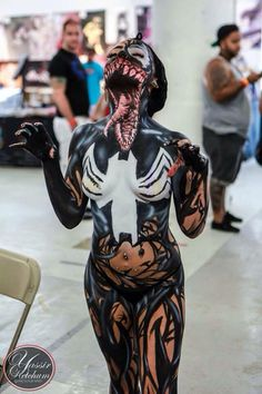 I have seen this everywhere, really good body art