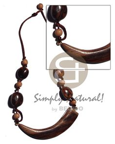 Robles Wood Tusk Rubber Seed & Wood Beads In Wax Cord Teens Necklace Beach Accessories, Fashion Accessories, Teen Necklaces, Collar Tribal, Coco Fashion, Native Style, Wood Necklace, Wholesale Jewelry, Wax