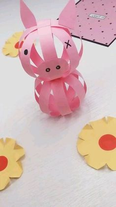 16 Simply Creative Paper Crafts For Kids - Origami Paper Animal Crafts, Animal Crafts For Kids, Paper Animals, Paper Crafts For Kids, Easter Crafts, Fun Crafts, Art For Kids, Diy And Crafts, Kids Origami