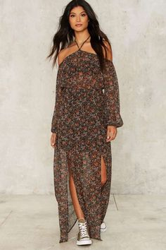 Nasty Gal Cinnamon Girl Maxi Dress