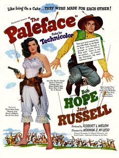 THE PALEFACE (1948) - Bob Hope - Jane Russell - Paramount Pictures - Movie Poster.