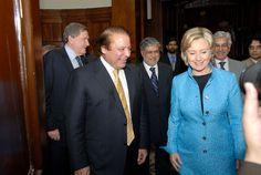 Nawaz Sharif with Hillary Rodham Clinton , Sec of State USA