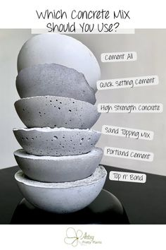 All About Concrete Crafts - Do you want to know all about making concrete & cement crafts? Come check out my tests comparing cement mixes, and also concrete making techniques. Source by artsyprettyplants - Cement Art, Concrete Cement, Concrete Crafts, Concrete Garden, Concrete Design, Patio Design, Concrete Statues, Concrete Sculpture, Concrete Furniture