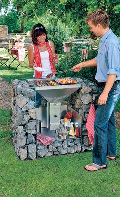 Grill bauen - # Ideasdejardinería # Gartenarbeit in Töpfen . Fire Pit Backyard, Backyard Bbq, Grill Diy, Design Barbecue, Brick Bbq, Built In Grill, Fire Pit Designs, Outdoor Living, Outdoor Decor
