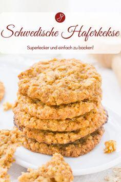 Flat, crispy Swedish oatmeal cookies - simple recipe - Biscuit recipes, Swedish recipes: Recipe for Swedish oatmeal cookies that are very flat and crispy. Canned Blueberries, Vegan Scones, Gluten Free Flour Mix, Scones Ingredients, Vegan Blueberry, Swedish Recipes, Biscuit Recipe, Oatmeal Cookies, Clean Recipes