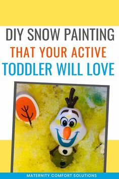 Best Ever DIY Snow Painting Activity For Toddlers Winter Activities For Toddlers, Toddler Activities, Advent Calendar For Toddlers, Frozen Characters, Painting Snow, Painting Activities, Toddler Snacks, Color Crafts, Sensory Bins