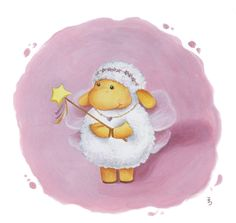 Art for Nursery Fairy Sheep print from an original acrylic illustration. £6.99, via Etsy.