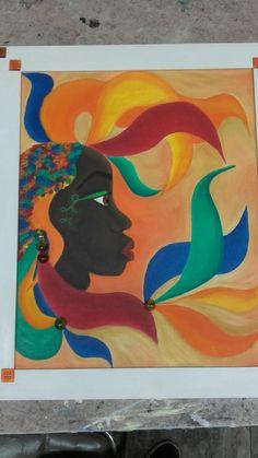 Pintura realizsda en bastidor 40×50 tecnica oleo .Se llama Carnaval.  Realizaa por M. Daniele.