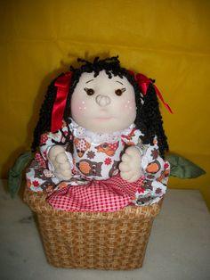 Baú boneca flor artsboomer.blogspot.com.br