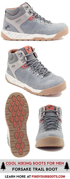 The Forsake Trail boot is a stylish sneaker hiking boot hybrid. Check out more cool hiking boots for men at https://www.findyourboots.com/stylish-hiking-boots-for-men