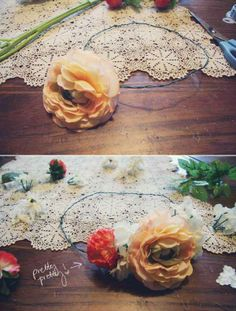 floral crown diy.  :)