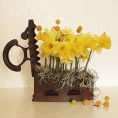 yau flori+aranjament paste cu narcise si fier de calcat