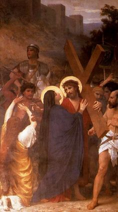 William-Adolphe BOUGUEREAU - Christ Meeting His Mother on the Way to Calvary