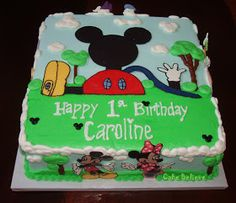 Cake Believe: First Birthday Mickey Mouse Clubhouse