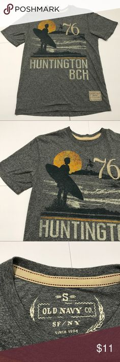 🏄 Surf Gray T by Old Navy 🏄 Used t-shirt by Old Navy great condition. From smoke/pet free home. Old Navy Shirts Tees - Short Sleeve