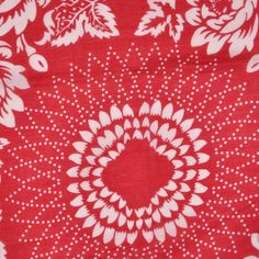 Red and White Cotton Voile Square Panel Fabric by the Yard   Mood Fabrics