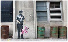 Inspiration Banksy - tag / graphe design et propre. Mises en situation des tags sympa.