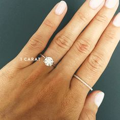 Compare the different carat sizes when it comes to your engagement ring.