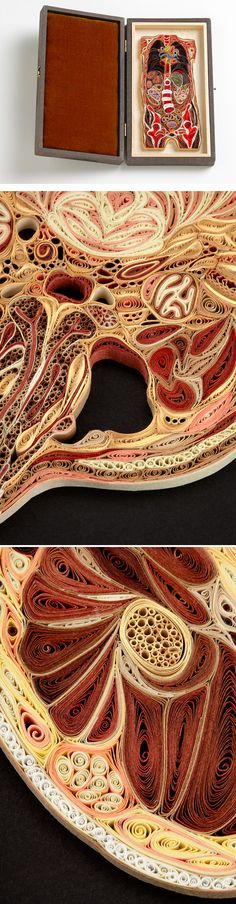 Paper Human Body. craziest quilling i've seen!  OMG This is amazing!
