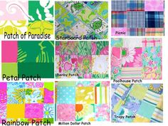 Lilly Pulitzer Line IDs - Patch Prints