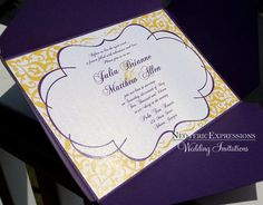 Purple and Yellow Wedding Invitation by NeotericExpressions