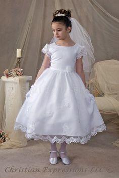 First Communion Dresses-First Communion Veils. Kaitlin First Communion Dresses