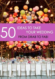 Every bride wants her wedding day to be as unique and special as possible, resulting in a lifetime of memories. Think you have seen it all, that there is nothing new, fun or exciting that you can add to your wedding day? Think again! Read on as eBay shares a huge list of fifty ideas for inspiration to take your day from drab to fab!
