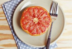 Baked Grapefruit: 2 grapefruits and a conservative handful of brown sugar. Slice grapefruits in half and remove as many seeds as you can. Begin to segment the grapefruit—this will allow the sugar to soak in even more. Sprinkle with sugar and bake at 400 F for 16-18 minutes.