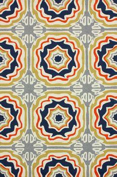 Rugs USA Hacienda Spanish Tiles Outdoor Trellis Multi Rug