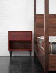 FURNITURE | LEATHER SIDE TABLE | BDDW Leather Furniture, Storage Cabinets, Nightstand, Bedside, Bedroom, Furniture Storage, Home Decor, Driftwood, Tables