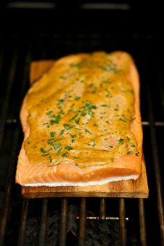 Planked Salmon with Maple-Ancho Chili Recipe | Reluctant Entertainer