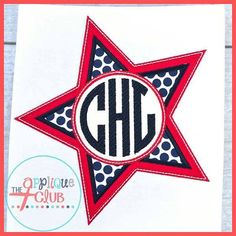 SAMPLE SALE // 4th of July Monogram Star Shirt on Etsy, $13.00