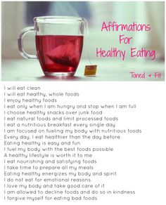 Affirmations For Healthy Eating | Toned & Fit