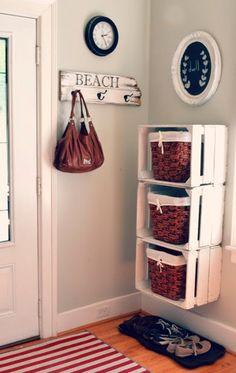 Estanterias DIY con cajas #diy #reciclar