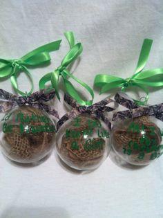 Hunting Ornaments, Camo Ornament Set, Ready to ship, Ornaments