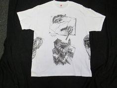 "M.C. Escher Adult T-shirt Size XXL-Large ""Multi Print "" Never Worn!"