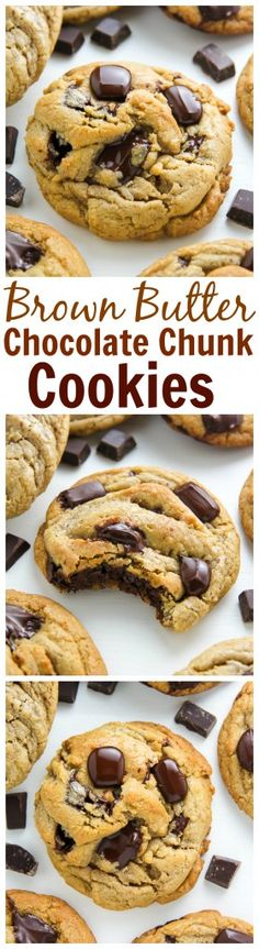 The Best Ever Chocolate Chunk Cookies made with brown butter!
