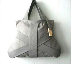 Just Custom Handbags - Listings View Gray Handbag Bags And Purses Grey Tote Bag Grey Fashion Bag Chic Bag Medium Grey Handbag.  #handmadehandbag #handbags #womenhandbag #womenfashion