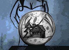 Illustrazione di @claudia861 per il mio speciale di natale -  Spiriti Vendicativi http://wp.me/p4fLnw-1ks