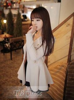 Handsome Korean Style Button Coat