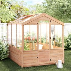 Diy Greenhouse Plans, Simple Greenhouse, Walk In Greenhouse, Outdoor Greenhouse, Backyard Greenhouse, Backyard Landscaping, Homemade Greenhouse, Diy Mini Greenhouse, Window Greenhouse