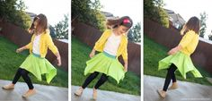 spinning circle skirt