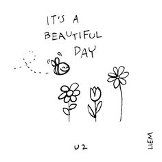 U2. Beautiful Day. 365 illustrated lyrics project, Brigitte Liem.