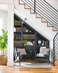 Chip and Joanna Gaines Magnolia House B&B Tour - Fixer Upper Decorating Inspiration storage under stairs Take a Tour of Chip and Joanna Gaines' Magnolia House B&B Casa Magnolia, Magnolia Joanna Gaines, Magnolia Homes, Magnolia Fixer Upper, Joanna Gaines Style, Chip And Joanna Gaines, Joanna Gaines Home, Joanna Gaines Living Room, Joanna Gaines Design