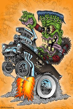 Franken-Wheelie by Britt8m on DeviantArt